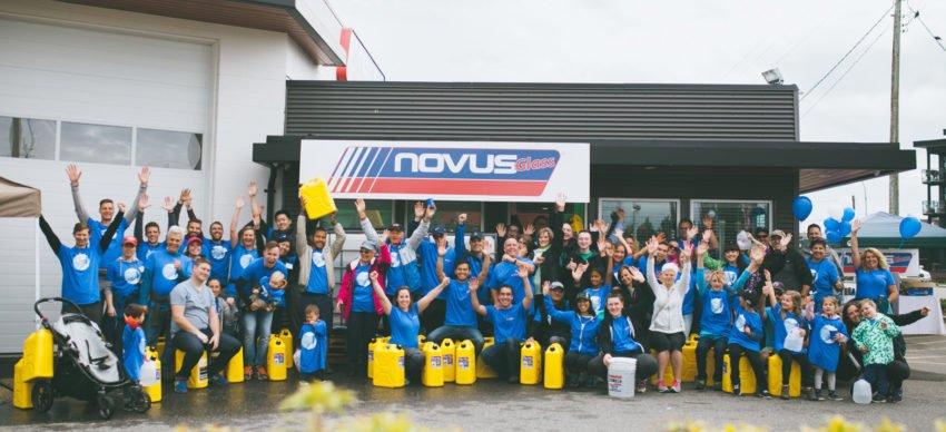 NOVUS GLASS IN BRITISH COLUMBIA WALKS FOR WATER