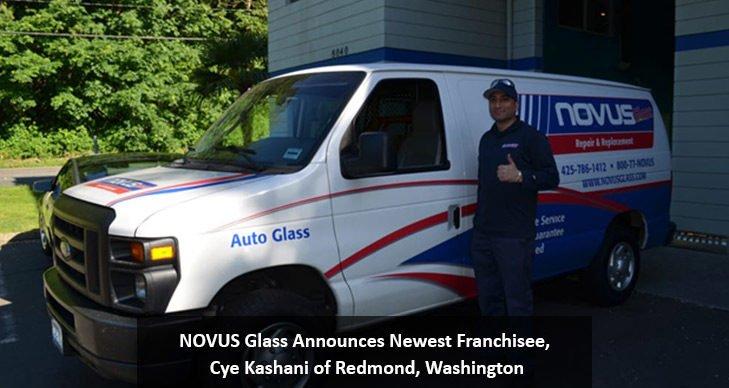NOVUS Glass Announces Newest Franchisee, Cye Kashani of Redmond, Washington