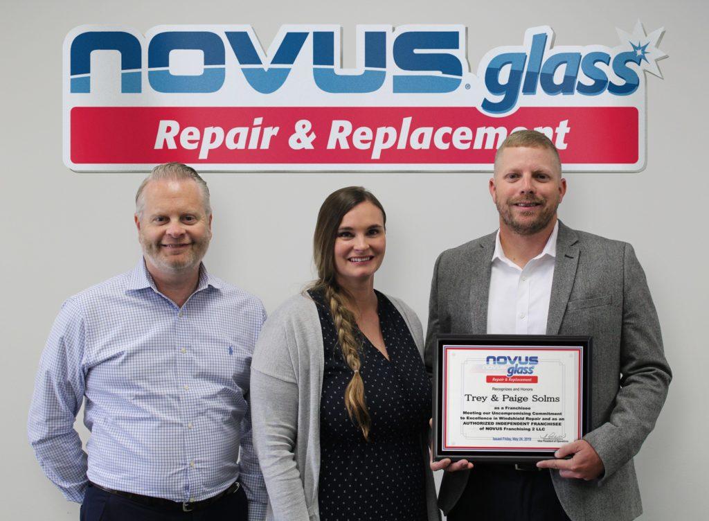 Novus® Glass Welcomes New Franchisees Paige And Trey Solms