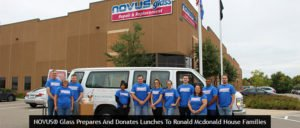 NOVUS® GLASS PREPARES AND DONATES LUNCHES TO RONALD MCDONALD HOUSE FAMILIES